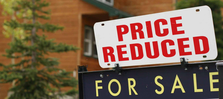 Home 'price reduced' sign