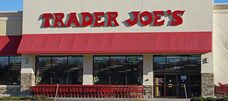 External view of Trader Joe's grocery store