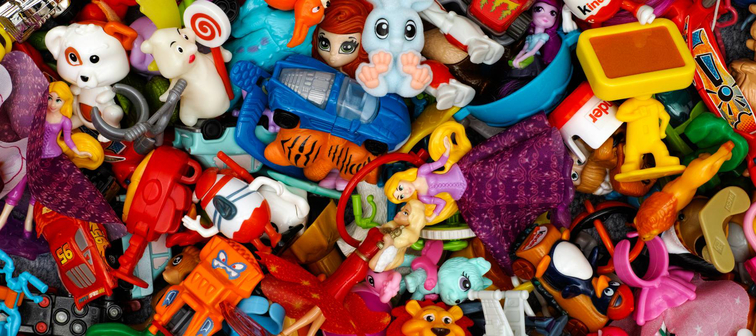 Pile of colorful toys