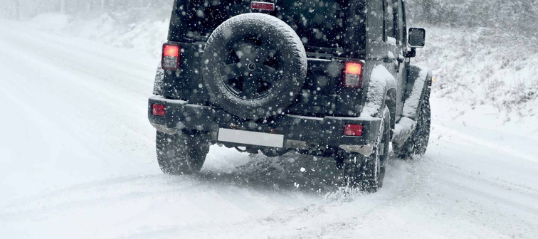 Winter Driving - risk of snow and ice - drifting