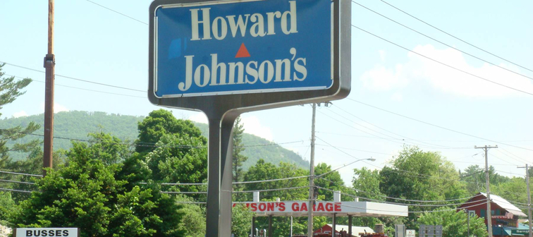 Howard Johnson's Sign in Lake George, New York