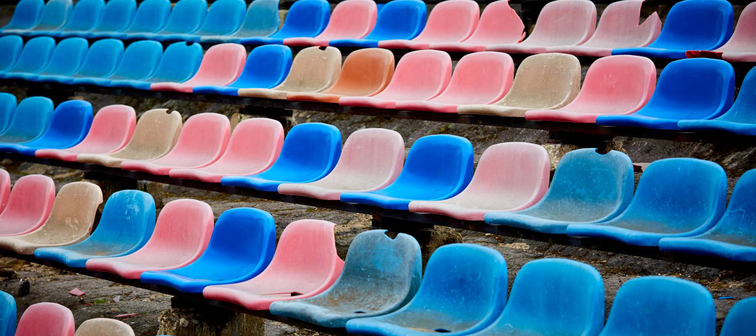 old stadium chairs