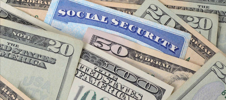 social security card and money concept
