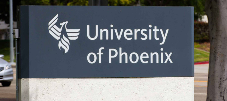 CARSON, CA/USA - AUGUST 2, 2014: The University of Phoenix facility. The University of Phoenix is an American for-profit institution of higher learning, headquartered in Phoenix, Arizona.