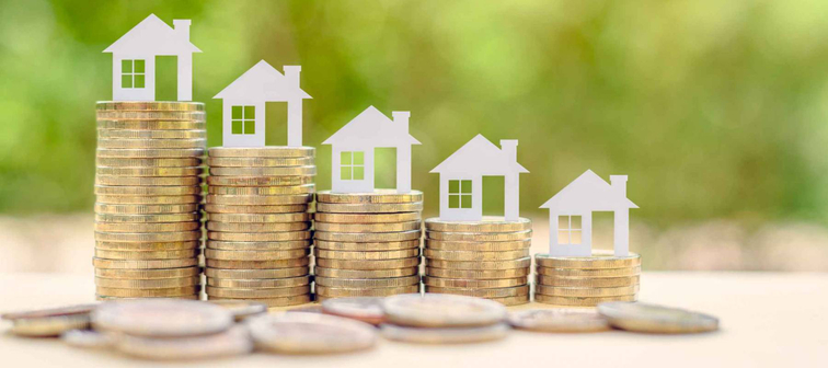 Concept of home loan being paid off